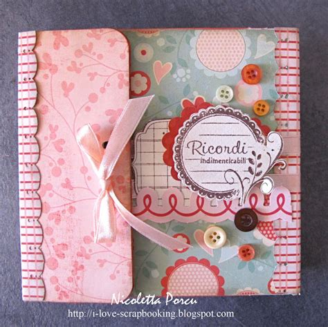 scrapbook tutorial videos i love scrapbooking tutorial mini album per scrappando