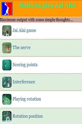 free rules to play jai alai apk download for android | getjar
