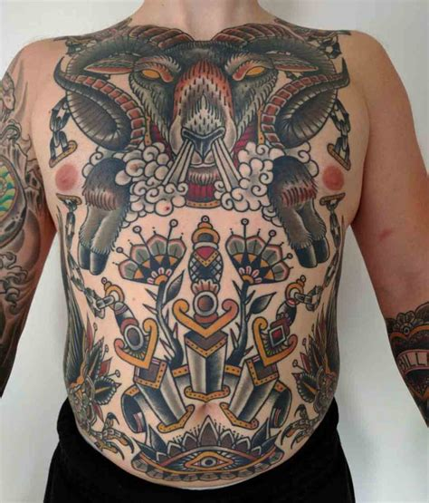 full torso tattoos ram and neo traditional tattoos torso best