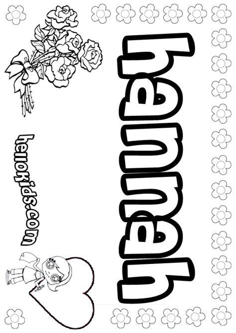 hannah coloring pages hellokids com
