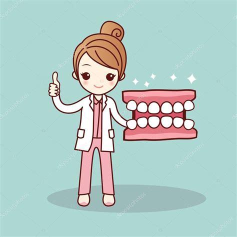 imagenes animadas odontologo dentista y dentadura de feliz de dibujos animados