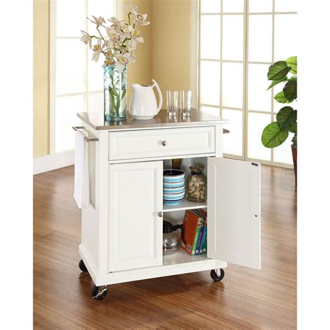 crosley furniture stainless steel top portable kitchen