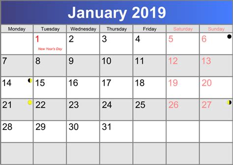 Calendar 2019 January Calendar January 2019 Print Pdf Abc Calendar Co Uk