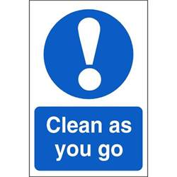Kitchen Design Ireland clean as you go mandatory signs food hygiene safety