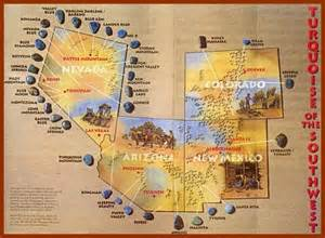 arizona turquoise mines map map of turquoise mines maps flags home