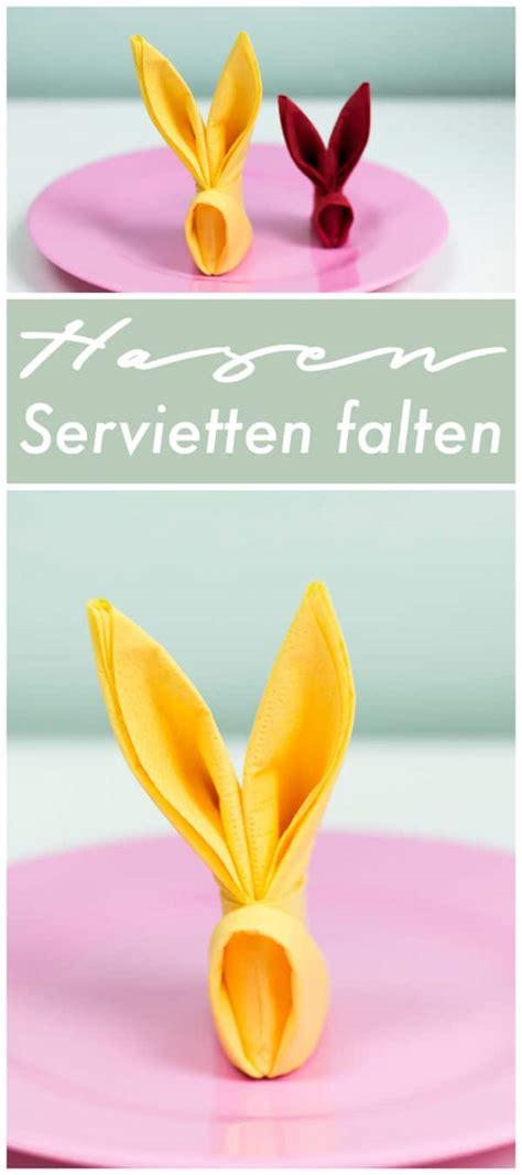 Serviette Als Hase Falten by Diy Hasen Servietten Falten Handmade Kultur