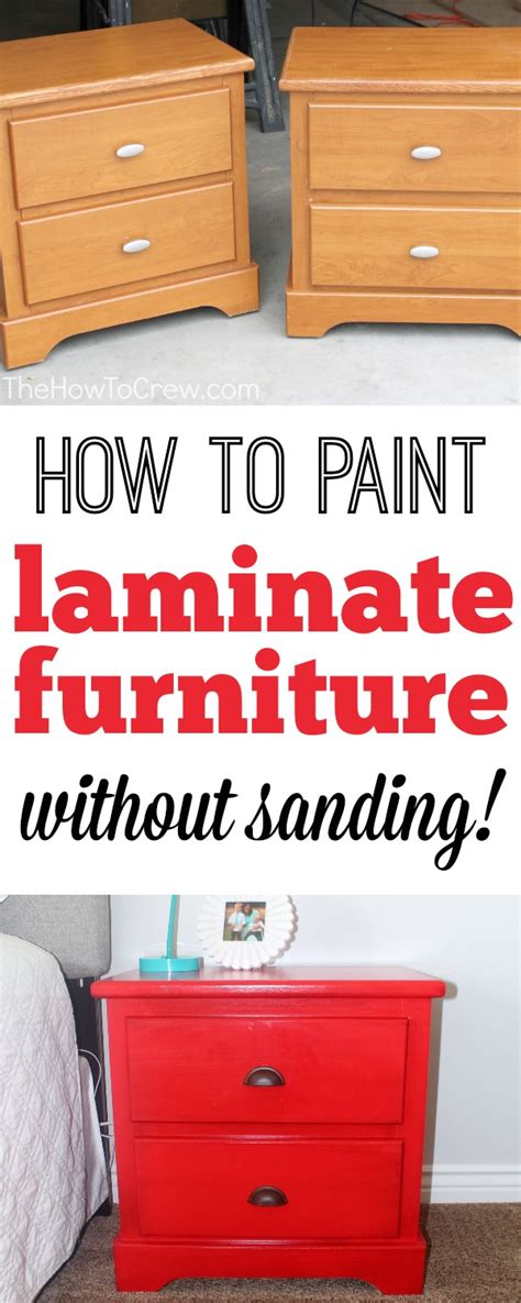 spray paint laminate furniture how to paint laminate furniture without sanding a step
