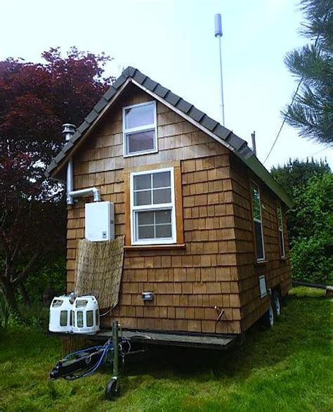 custom tiny house trailer shower in paradise with this tiny house on wheels