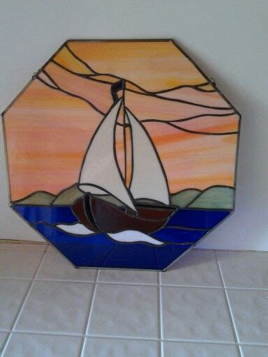 Sailboat Windows Designs 426 Best Stained Glass Landscape Images On