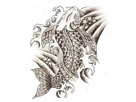 koi fish tattoo stencil image gallery koi fish stencil