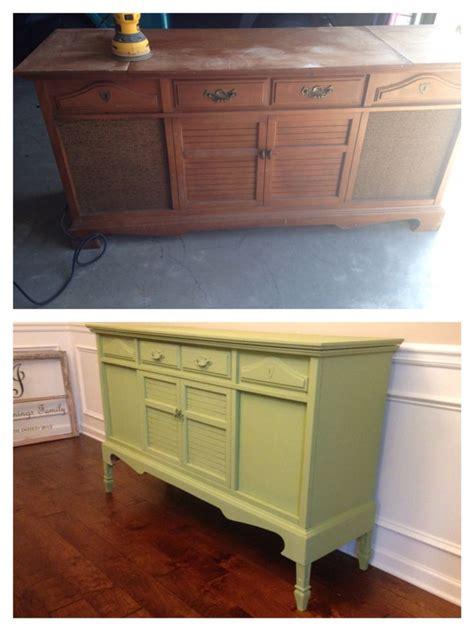stereo cabinet repurposed diy buffet green room