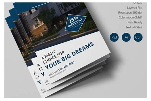 property brochure templates free download