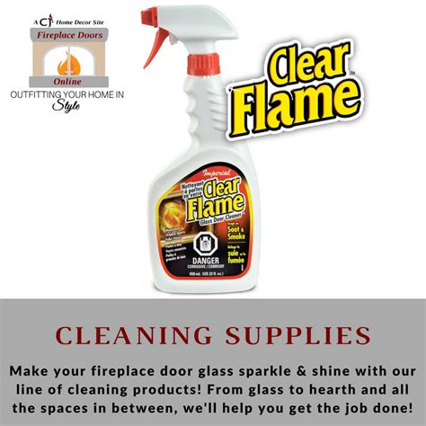 fireplace door maintenance fireplace door cleaning products