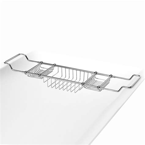 Chrome Bathtub Caddy Deluxe Bath Tub Caddy Chrome