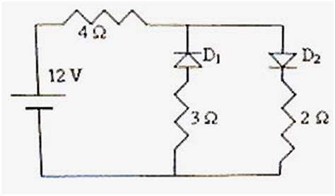 ideal diodes in parallel physicsplus choice questions on diodes including eamcet 2009 engineering and aieee