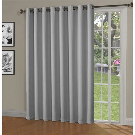 Curtains For Big Sliding Doors Blackout Woven Blackout 108 In W X 84 In L Grommet Wide Patio Door
