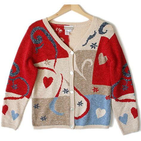 valentines day sweaters coldwater creek abstract hearts sweater