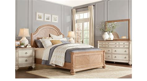 french cottage bedroom furniture french cottage natural cream 5 pc king panel bedroom