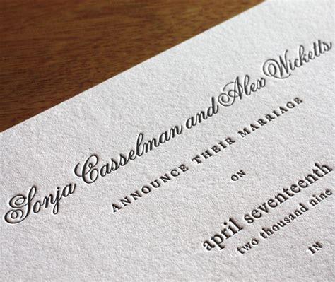 letterpress wedding invitation font choicesfonts for your wedding invitation wording