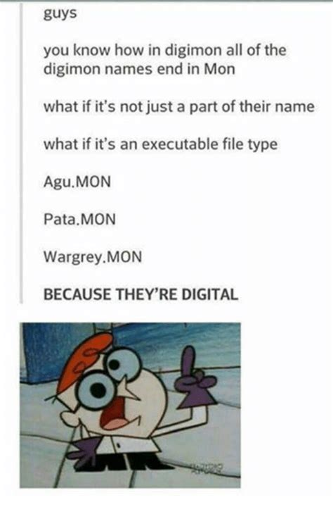 All Memes And Their Names - 25 best memes about digimon names digimon names memes