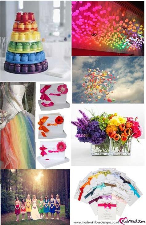 rainbow themed wedding theme decorations colorful wedding themed weddings