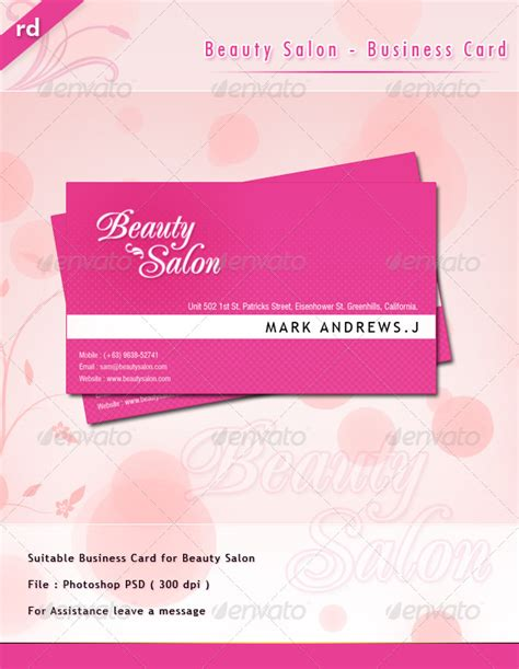 Salon Business Card Templates Psd by Salon Business Card Psd Salon Business Cards