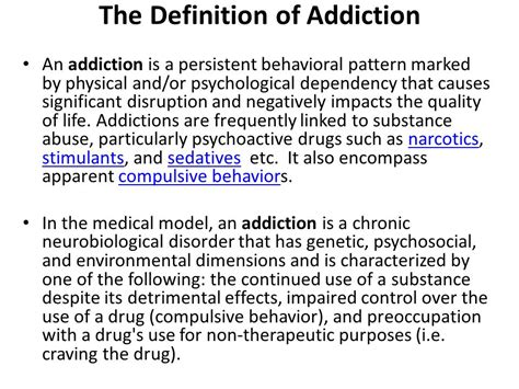 Definition Of Detox by Alcoholism And Addictions In The Family And Society Ppt