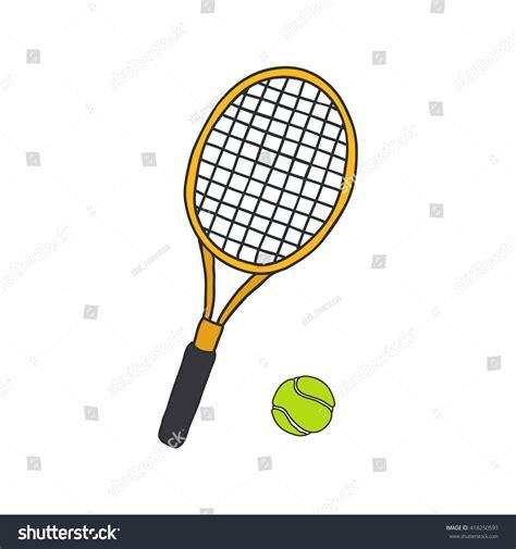 doodle tennis doodle icons tennis racquet vector stock vector