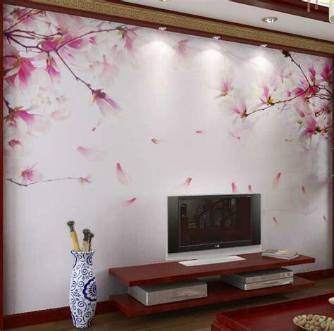 sakura flower mural wall painting youtube 3d embossed cherry blossom flower photo mural floral