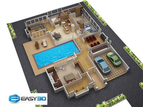 home design 3d for pc full 3d floor plans for new homes architectural house plan
