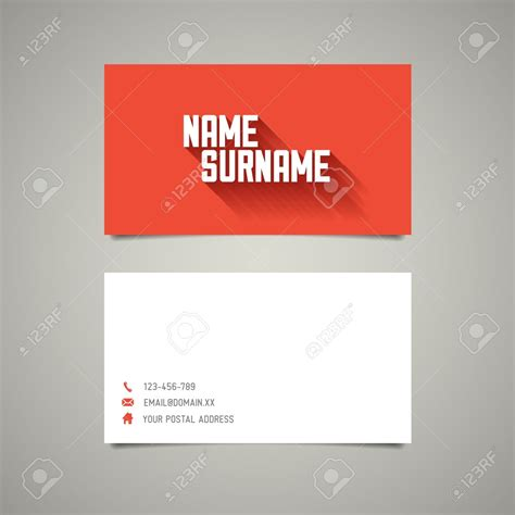Simple Business Cards Templates Business Card Idea Minimalist Business Cards Templates Simple Free Name Card Template