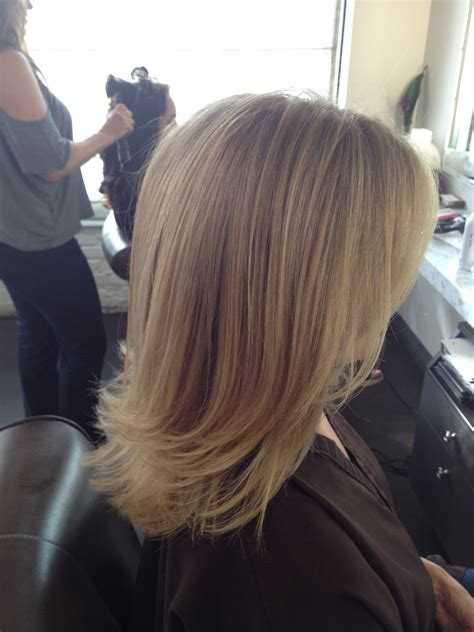 cut before dye hair before and after cool blonde chic cut neil george