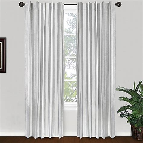 Silver Window Curtains Park B Smith Ottavia 84 Inch Back Tab Window Curtain Panel In Silver Bed Bath Beyond