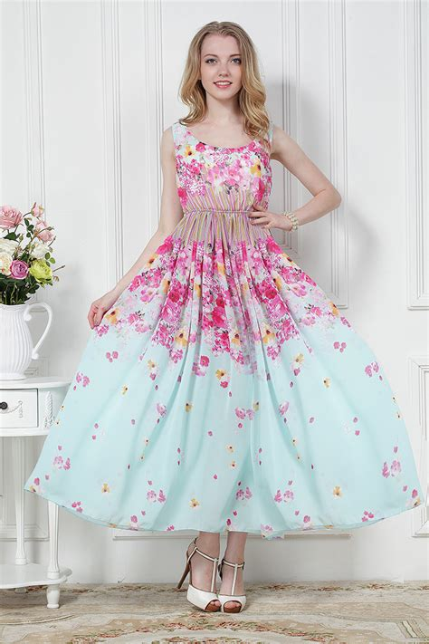 Blossom Flower Dress fashion casual chiffon dress