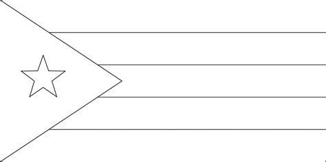 cuban flag outline