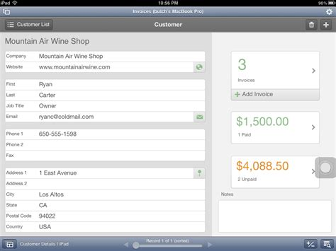 filemaker layout menu set the mac office estimates and invoices filemaker pro 12