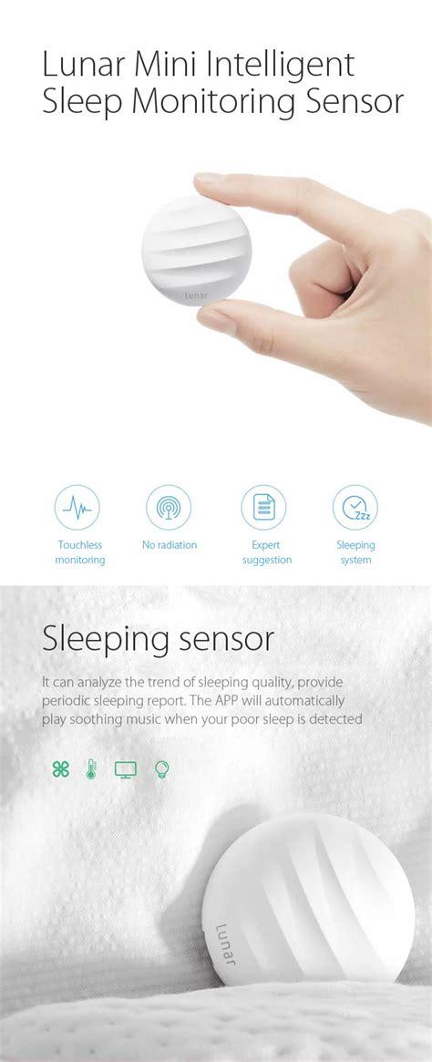 Xiaomi Lunar Sleep Sensor Mijia Lunar Sensor Tidur Mi Sensor ebluejay lunar smart sleep monitoring sensor intelligent monitor nonradiative sleeping recorder