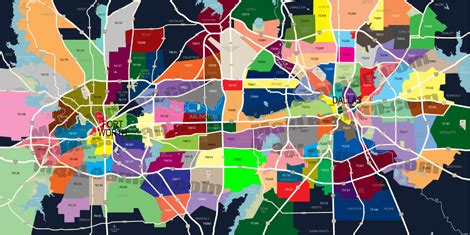 dallas ft. worth zipcode map dfw zip code map dfw