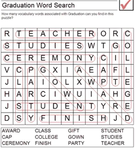 printable word search graduation printable graduation worksheets graduation word search
