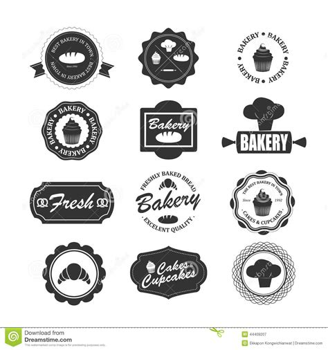 adobe illustrator label template set of vintage bakery labels badges and design elements