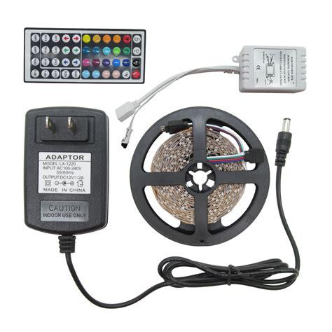 Paket Adaptor 2 Roll Led Rgb Colour 3528 Remote Rf Rgb 5m roll 3528 smd led 300leds rgb led light 12v 2a power adapter 44key ir remote