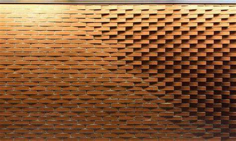 gambar susunan tembok batu bata unik desain rumah unik