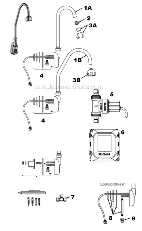Sloan Faucet Parts by Sloan Ebf 550 Parts List And Diagram Ereplacementparts
