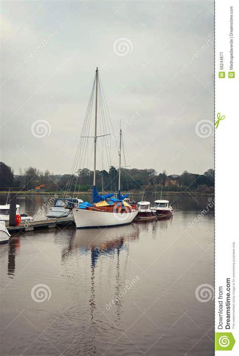luxury yacht   waterford ireland stock image image  weather dark