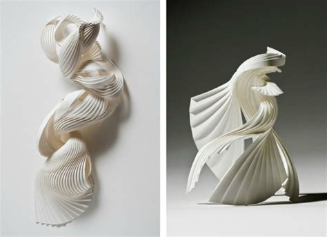 3d Origami Sculptures - paper sculptures and geometric origami by richard sweeney