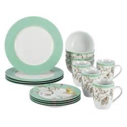 Better Homes Gardens Dishes by Bonjour Fruitful Nectar 16 Piece Porcelain Dinnerware Set