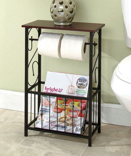 scrolled bathroom storage table toilet paper holder magazine rack organizer decoracion hogar