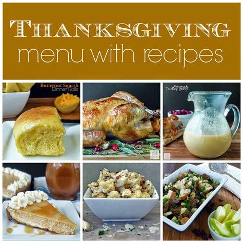 thanksgiving dinner menu  recipes life tastes good