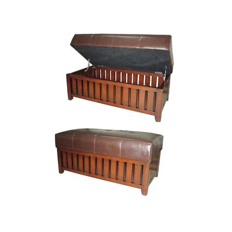 wooden bench with cushion brown cushion storage wooden bench