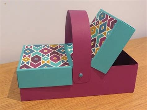 How To Make Handmade Boxes - flap lid picnic box tutorial handmade with stin